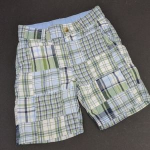 Janie and Jack blue and plaid shorts toddler 2t